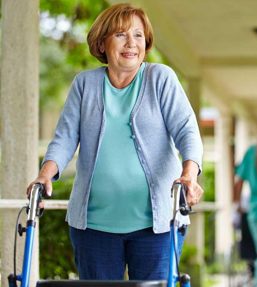 woman using walker